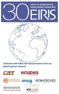 Celebramos con EIRIS su 30º aniversario